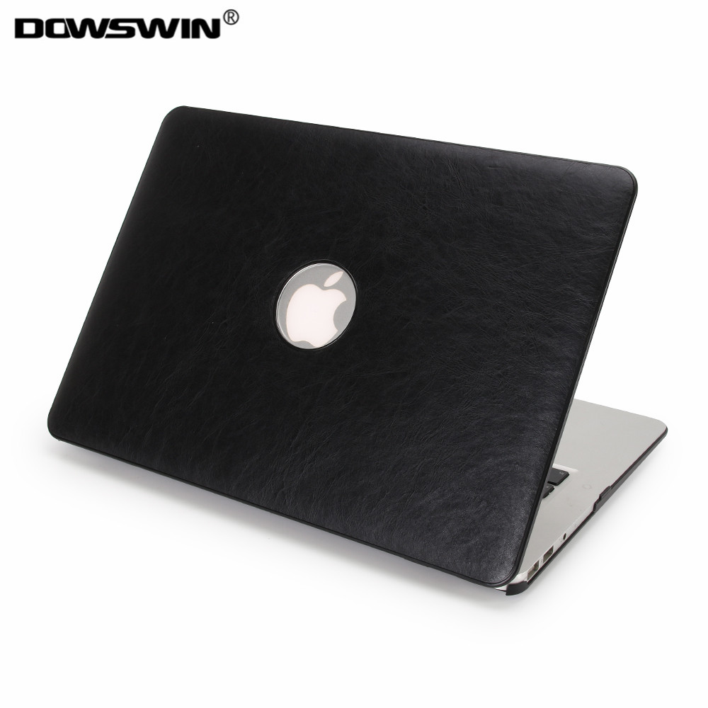 Para MacBook Pro 13, pu delantera + contraportada de la PC para MacBook retina 12 13 15 pulgadas MacBook Air 11 13 portátil Conchas