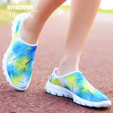 green 3D print upper ,lovely breathable sneakers woman,comfortable athletic shoes,sport running walking shoes,zapatos,schuhes