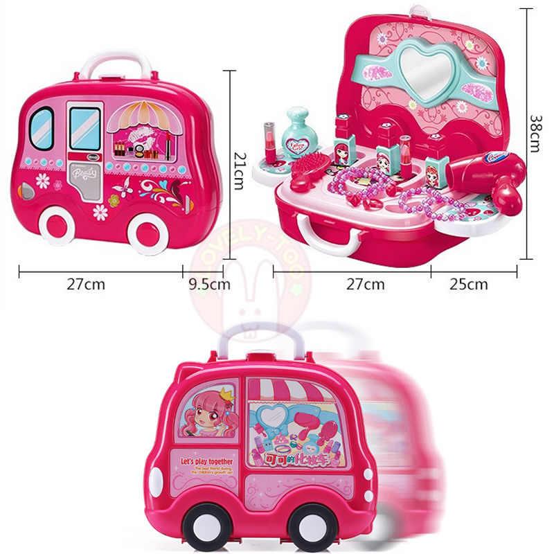 Детские игрушки для макияжа, игры для девочек, Детская косметика, набор для ролевых игр, Парикмахерская игрушка косметика для девочек, развивающая игра