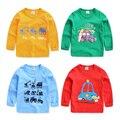 O menino dos desenhos animados T-shirt de manga comprida 2017 nova primavera camisa do bebê das crianças dos miúdos jaqueta U2286