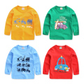 The boy cartoon long sleeved T-shirt 2017 spring new kids children baby shirt jacket U2286