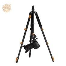Q570A fotocamera treppiede aluminum 1580 peak flip leg lock kamera tripod folded 355mm transportable dslr digicam stand  Q666