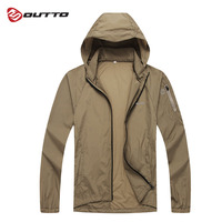 Outto Men's Cycling Bike Jacket Lightweight Raincoat Cycling Jersey Outdoor Sport Skin Coat Windproof Bicycle Windbreaker