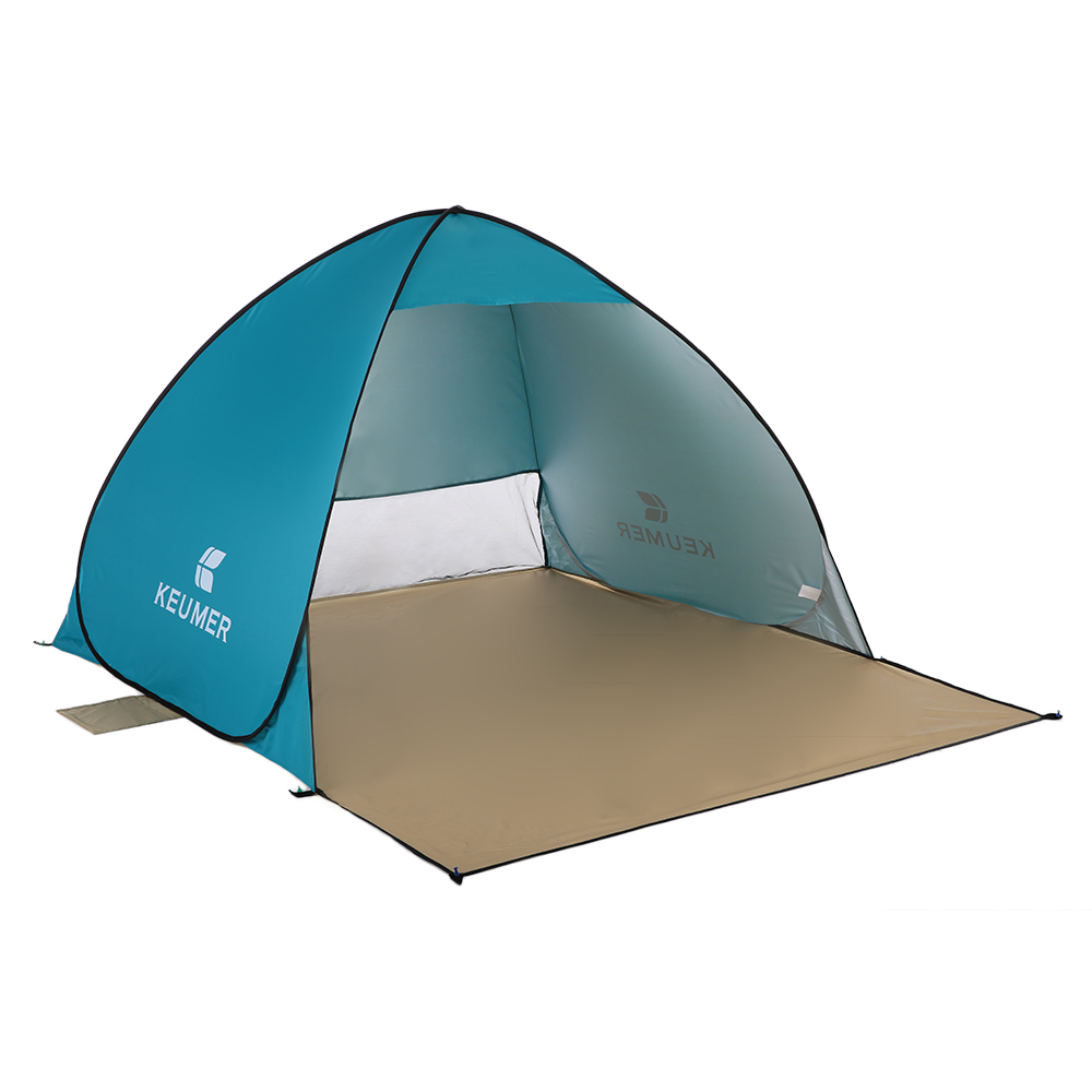 1PS Outdoor Instant Pop-up Open Tent (120+60)*150*100cm Beach Tent Shelter Camping Fishing Travel Garden Tent Free Shipping