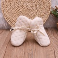 0-6M Infant Baby Newborn Boys Girl 100% Natural Organic Cotton Lacing Elastic First Walkers Crib Shoes 2016 Warm Soft Baby Shoes