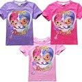 2016 Nova Moda dos desenhos animados do bebê meninas verão camisetas crianças t roupas de verão roupas infantis menina B0712