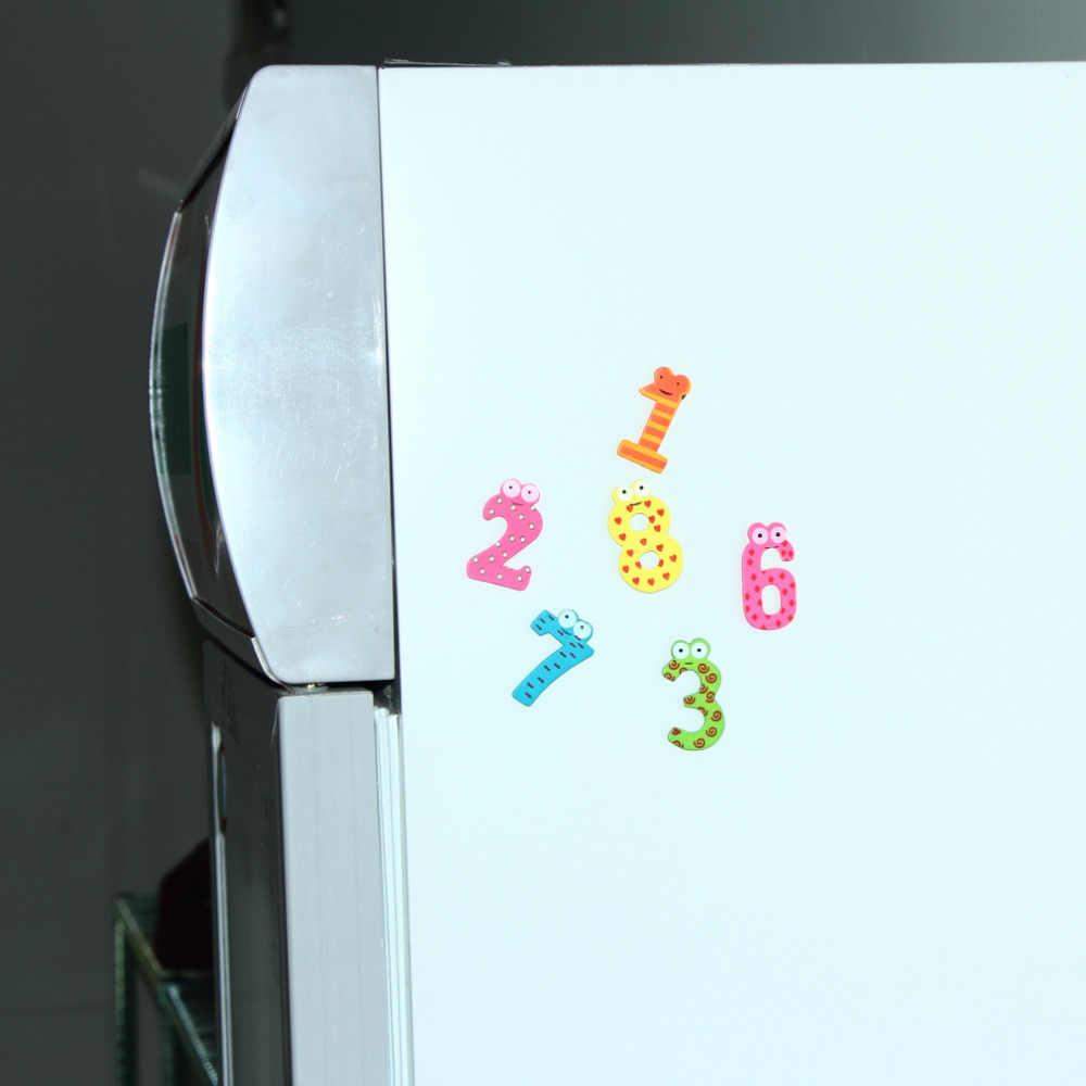 10 قطعة التعليم المغناطيس X ماس طقم هدايا 10 عدد خشبية مغناطيس الثلاجة الكرتون التعليم تعلم لطيف طفل لعبة هدايا Hot البيع