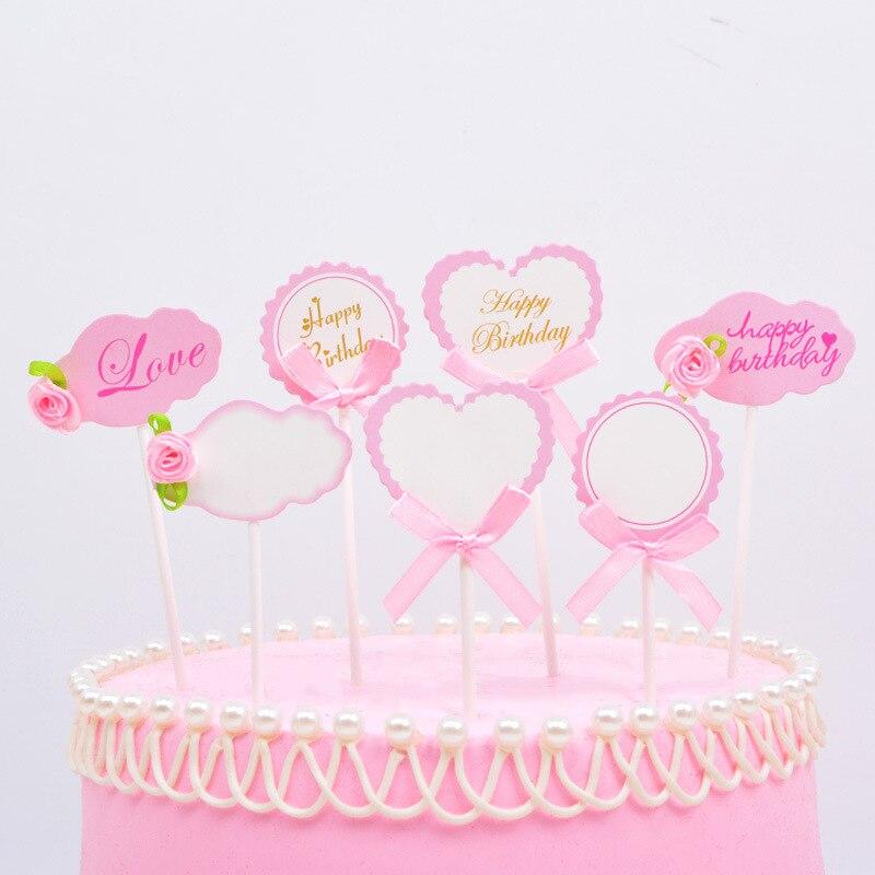 Aliexpress Buy 3pcslot New Style Happy Birthday Cake Topper