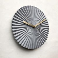 3D geometric concrete clock silicone mold cement wall clock mold home decoration gift plaster mold