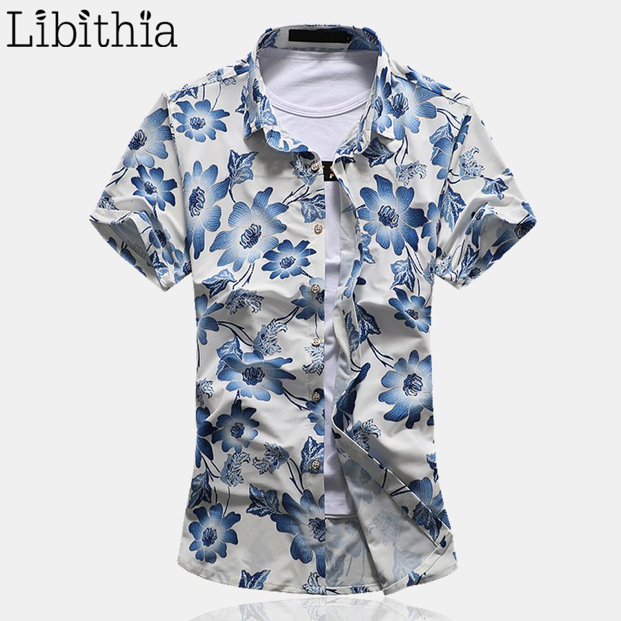 Blue Floral Shirts for Mens Promotion-Shop for Promotional Blue ...