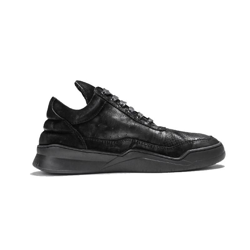 Marca Do Casuais gray Sapatos Da black De Skate Hole Top Alta Dos Masculino Designer Sneakers Calçados Grosso Sapato Vaca Plataforma Escavar Camurça Homens Black wWgFccqnTx