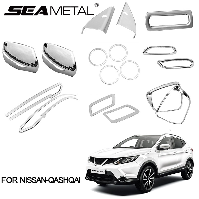 For LHD Nissan Qashqai J11 2nd 2018 2016 2015 2014 ABS Chrome Car Rear Fog Light Cover Rearview Chromium Car-styling Accessories стоимость