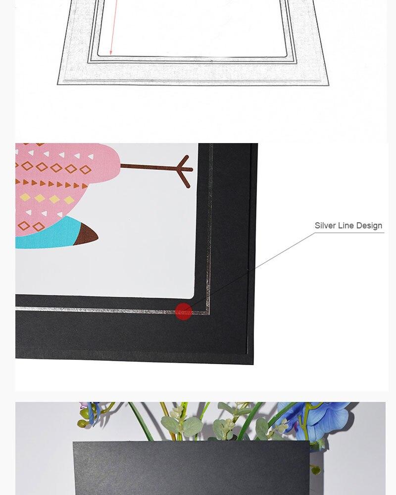Haotuo carpetas graduación negro cartón Marcos carpeta grande álbum ...