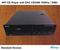 HI FI CD плеер с ЦАП CS4398 192 кГц/24Bit Высокое качество Движение Стандартный версия черный или лозы Панель 220 В аудио