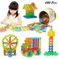 Com Instruções 400 Pcs Floco De Neve De Plástico Blocos de Construção do Modelo de Construção 3D Puzzle Jigsaw Puzzle Brinquedos Educativos Para Crianças