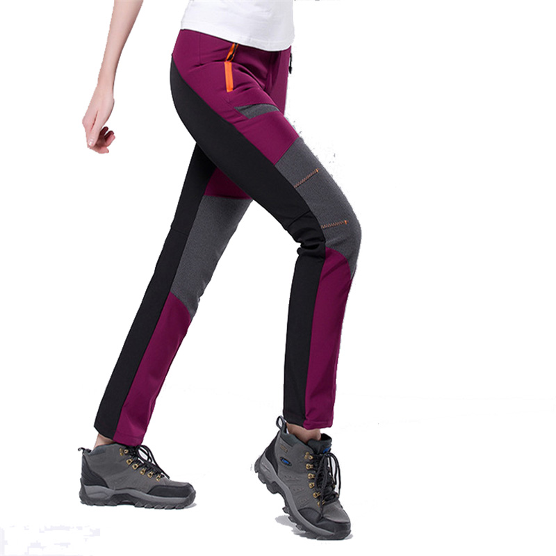 2018 New Softshell Pants Men Breathable Thermal Waterproof Pants lovers Outdoor Sport Camping Hiking Pants Fleece Outdoor Pants