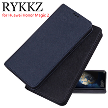 RYKKZ Luxury Leather Flip Cover For Huawei Honor Magic 2 Mobile Stand Case Phone 6.39