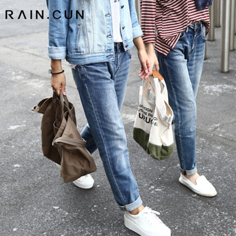 ФОТО 2017 Spring New Arrival Boyfriend Jeans for Women Distressed Jeans Ripped Loose Fit Harem Pants Plus Size 26-34 N2162