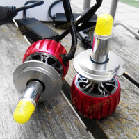 One Pair 60W 7000LM CREEe LED Copper Heat Sink Turbo Fan Head Light Headlighting Car Lights