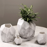 Современные украшения белая керамическая ваза для цветов Геометрия Ремесло творческий подарок XL