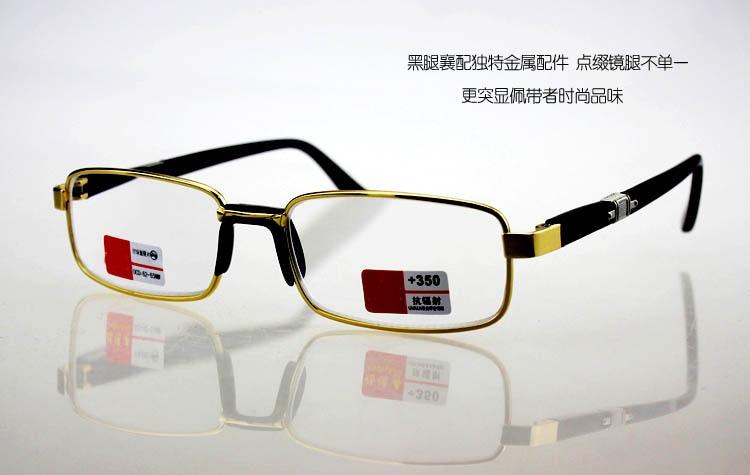 100% QualitäT Vollrand Gold Legierung Gläser Einfache Low-key Design Komfortable Männer Frauen Lesebrille + 1,00 + 1,50 + 2,00 + 2,5 + 3,0 + 3,50 + 4,0