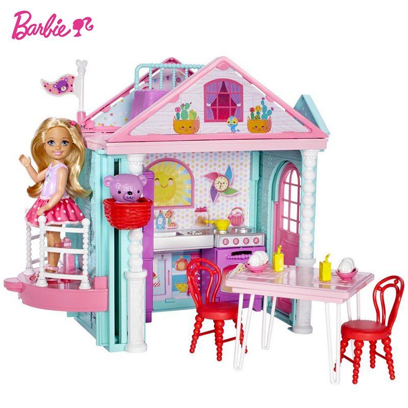 Barbie Original Little Toy For Story House Kelly Dollhouse Cute Girl Birthday Toys For Children Gifts Fashion Dolls For Girls cxzyking fashion barbie accessories sofa jewelry box furniture for barbie dolls house toys for baby girls best birthday gifts