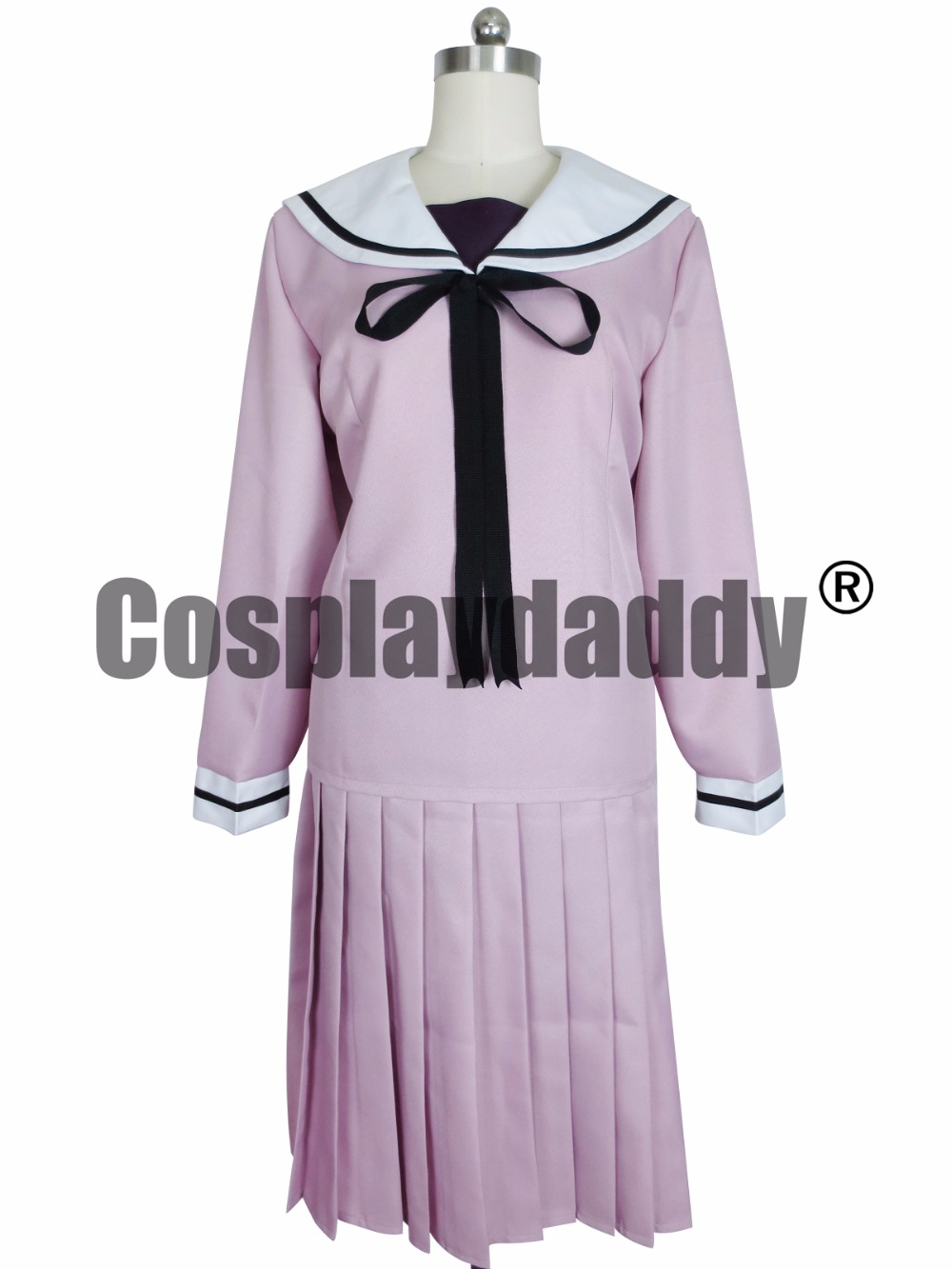 Noragami Cosplay Hiyori Iki Purple School Uniform Costume  H008