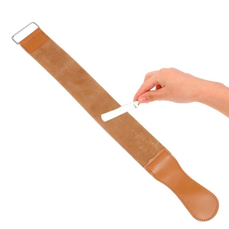 1PC Leather Straight Razor Folding Knife Blade Sharpening Belt Barber Shaving Strap 49cm Durable High Quality