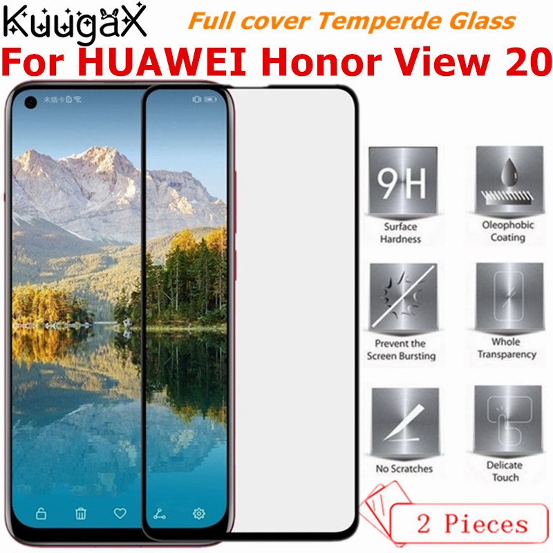 2PCS Full cover Tempered Glass For HUAWEI Honor View 20 screen protective case t