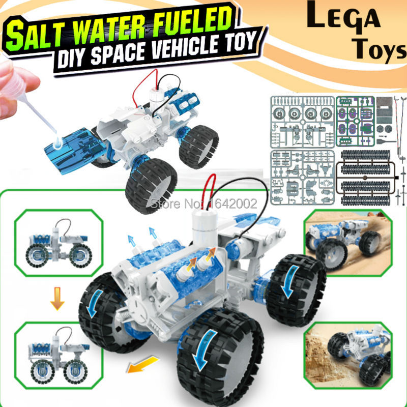 Salt water engine car kit fueled diy space vehicle toy for Motor kits for kids