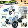 Salt water Engine Car Kit fueled DIY space vehicle toy,Bine Power Robot Blocks Science Model kit Educational Toys for children