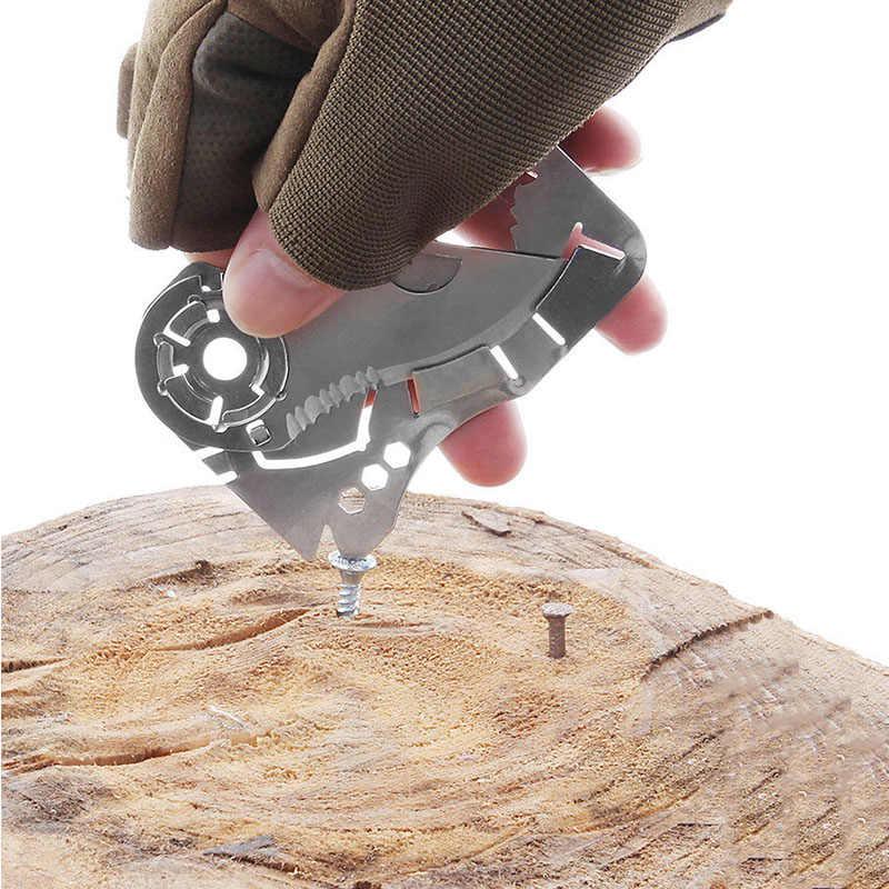سكاكين جيب صغيرة خارجية للدفاع عن النفس أدوات EDC محفظة بطاقة الائتمان سكينة خارجية قابلة للطي سكين قلادة أداة يدوية