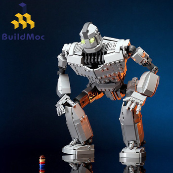 New MOC Robot Fit The Iron Robot Technic City Figures Giant Model Building Blocks Bricks Kids Toys Boy Gifts Birthday new idea rc motor power functions wall e robot fit technic figures moc building block bricks diy toy gift kid birthday xmas
