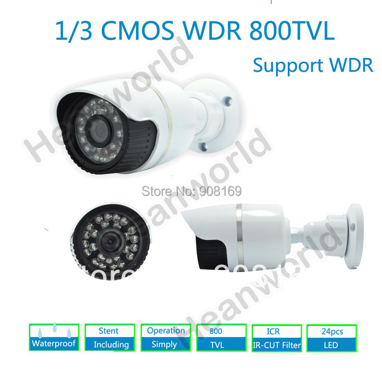 ФОТО Free shipping CMOS camera with IR-CUT WDR HD 800TVL waterproof CCTV camera with bracket Bullet Camera 960H video monitoring