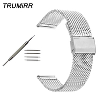 Milanese Watchband for Zenith Moser Paul Picot Watch Band Stainless Steel Strap Wrist Bracelet Silver Gold Black 18 20 22 24mm