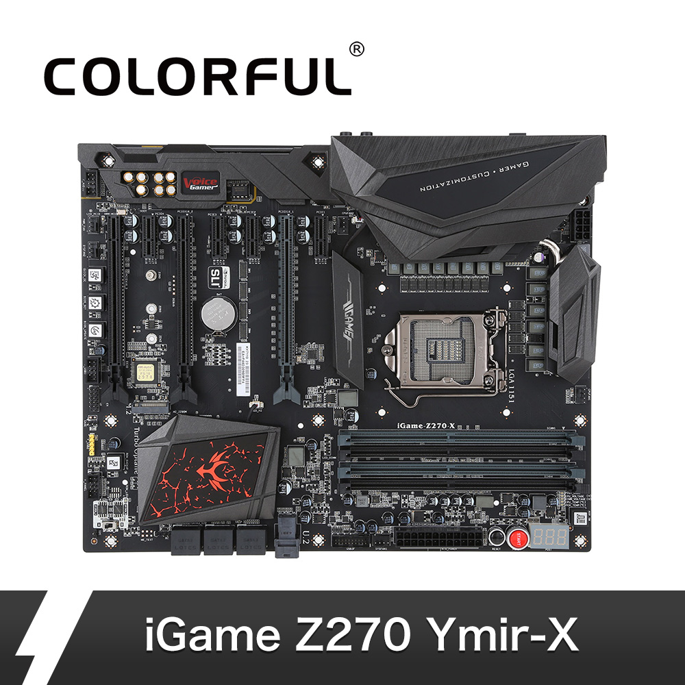 Colorful iGame Z270 Ymir X ATX Motherboard Mainboard Systemboard LGA1151 DDR4 SATA3 M 2 Port Dual