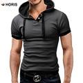 2017 Европейский Размер М-5XL Капюшоном Polo Shirt Для Мужчин Homme Polo Рубашки Досуг Одежды С Коротким Рукавом H232