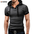 2017 European Size Hooded Polo Shirt For Men Homme M-5XL Polo Shirts Leisure Clothing Short Sleeve H232