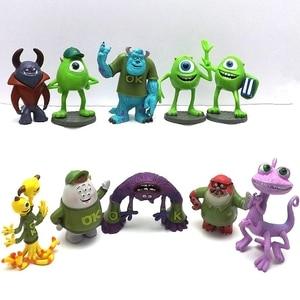 Image 2 - مجسم ألعاب مجسم صغير لشخصية الرسوم المتحركة مايك وازوسكي جيمس P. سوليفان 5 7 سنتيمتر 10 قطعة/المجموعة