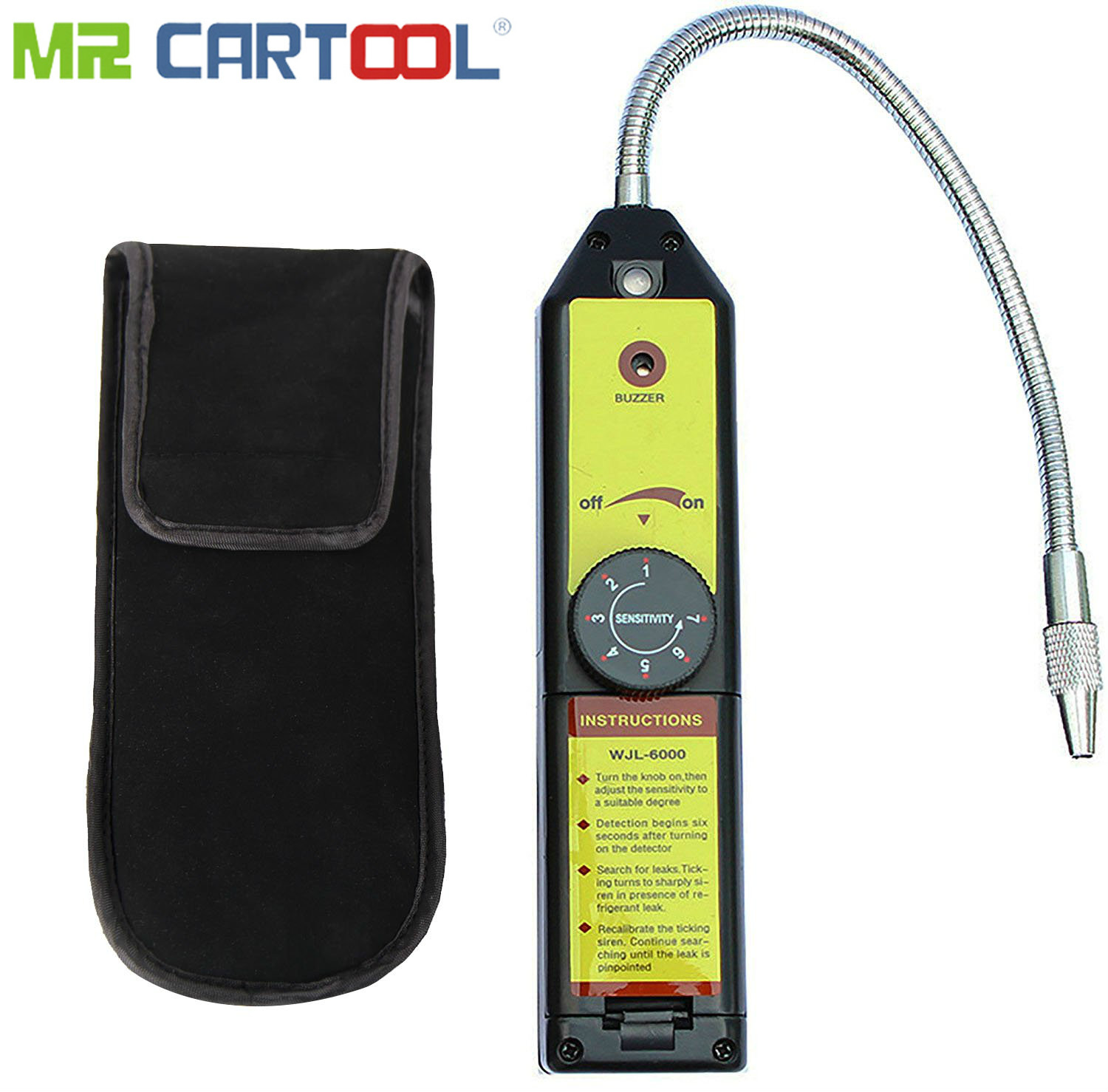Mr Cartool Refrigerant Freon Leak Detector for HFC CFC Halogen R134a R410a R22a R600a R290 Air Condition HVAC