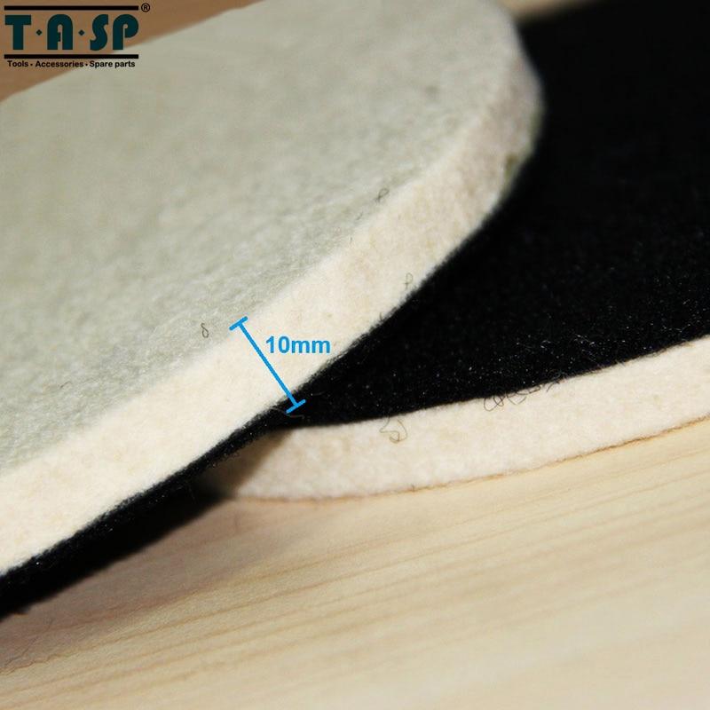 TASP 2 pezzi 125 mm lana lucidatura e lucidatura Pad Hook & Loop per - Utensili elettrici - Fotografia 4