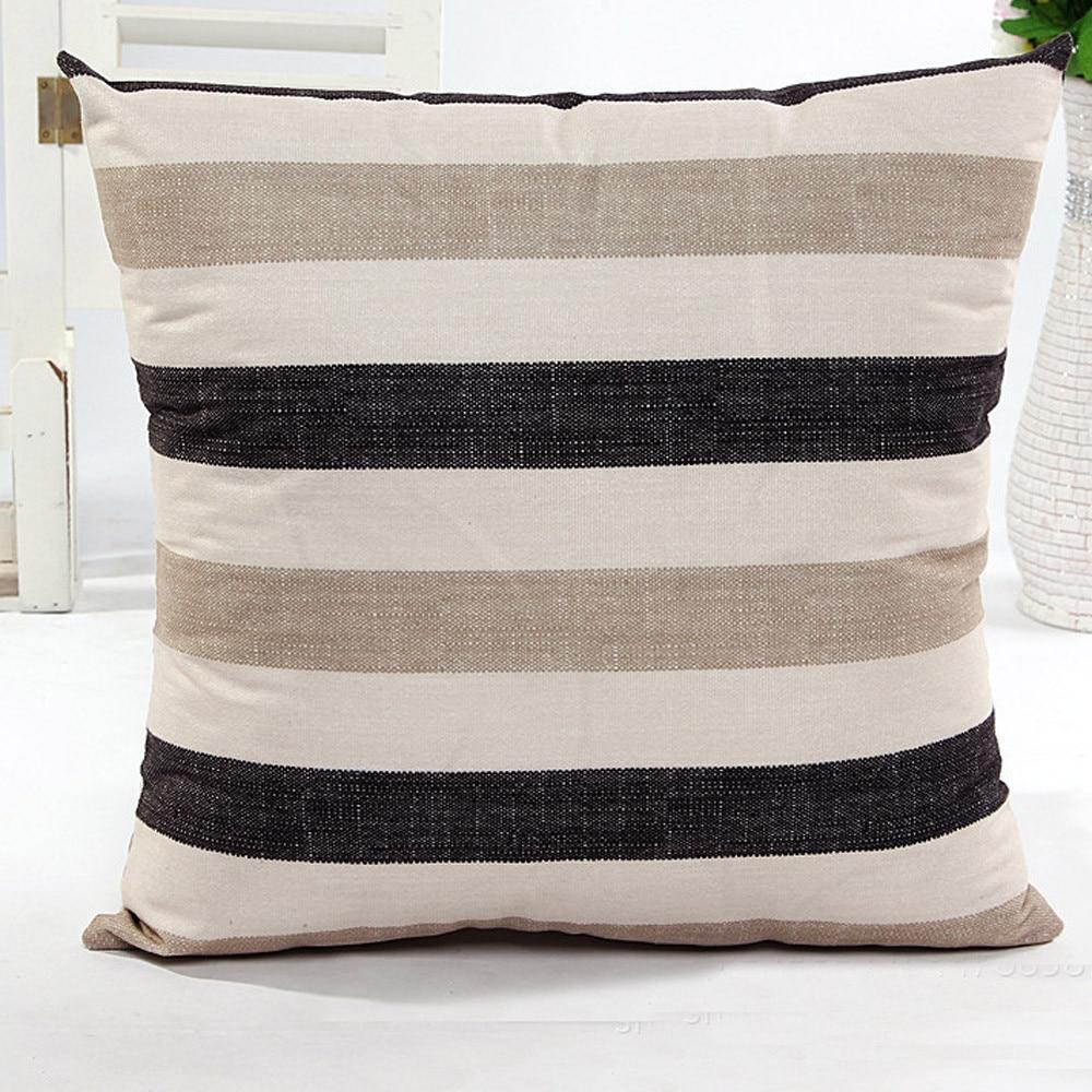 Pillowcase Pillow Cover Stripe Bed Home Pillow Case Cushion Purple Beige Blue Black 45cm*45cm 2017 Fashion 4styles Comfortable