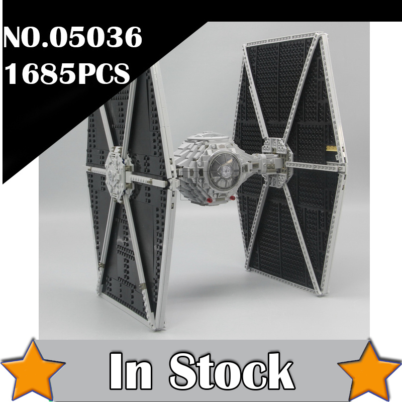 NEW 1685pcs Star 05036 Series Wars Tie Fighter Building Educational Blocks Bricks Toys Compatible 75095 Gifts lepin dhl new lepin 06039 1351pcs ninja samurai x desert cave chaos nya lloyd pythor building bricks blocks toys compatible 70596