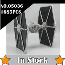 NEW 1685pcs Star 05036 Series Wars Tie Fighter Building Educational Blocks Bricks Toys Compatible 75095 Gifts lepin