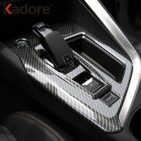 For Peugeot 3008 GT 2016 2017 2018 Carbon Fiber Gear Shift Panel Cover Car Decoration Trim Interior Accessories Car Styling