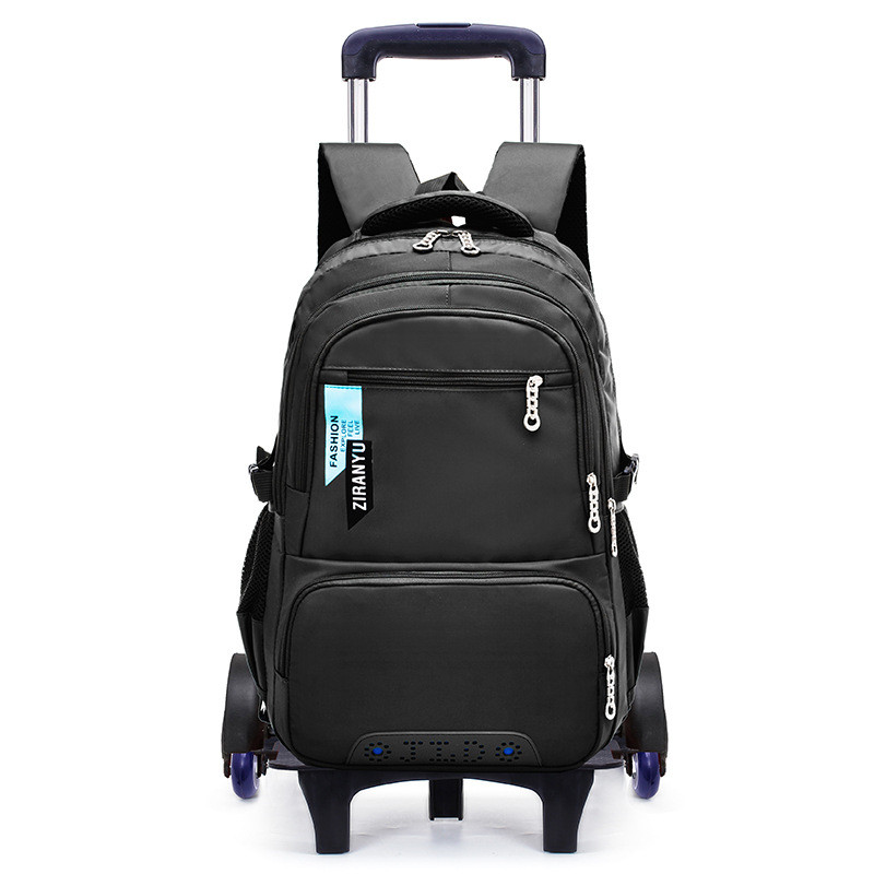 Children School Bags Removable Boys Girls large capacity Trolley Backpack 6 Wheels Child Climb Stair Kids