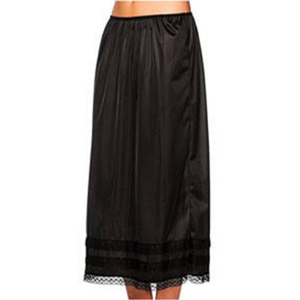 2019 Fashion Women 39 s Elastic Waist Slip Ladies Womens Lace Long Skirt Underskirt Petticoat Extender Gonne White Skirts L 3XL in Skirts from Women 39 s Clothing