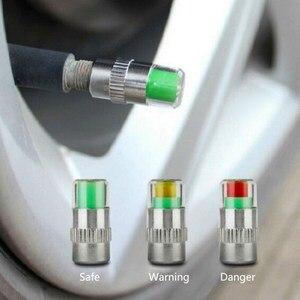Image 4 - 4 pçs sensor de pressão dos pneus do carro 2.2 2.4 2.5 barra válvula tampa da haste alarme pressão dos pneus ar alerta kit ferramentas monitoramento pressão dos pneus