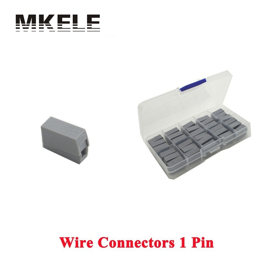 Hot Sale 30 Piece Single 1 Pin Cable Wire Wiring Connecting For Lamp MKVSE-101 Wago Connectors Findings Bevindingen China [vk] 553602 1 50 pin champ latch plug screw connectors