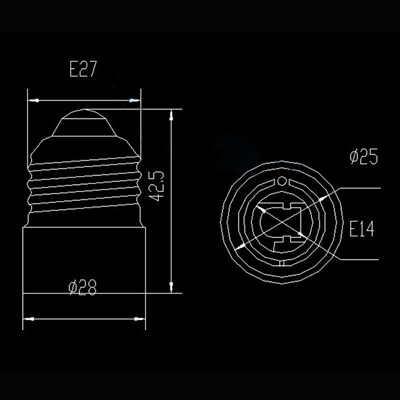 E27 для E14 База Светодиодный свет лампы адаптер конвертер Винт Разъем 1 шт./лот